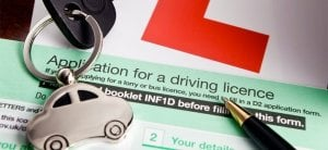 Image of Application form to apply for a Provisional driving licence by post