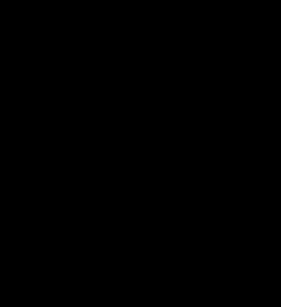 black circular cog outline with black tick inside